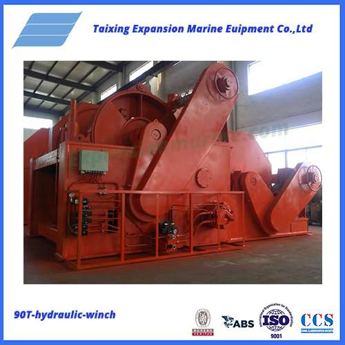 90T hydraulic towing winch