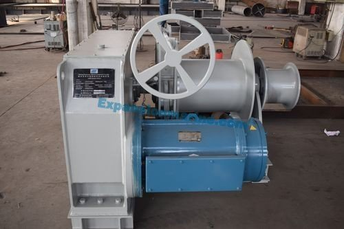 4T single drum electric winch manual brake and clutch