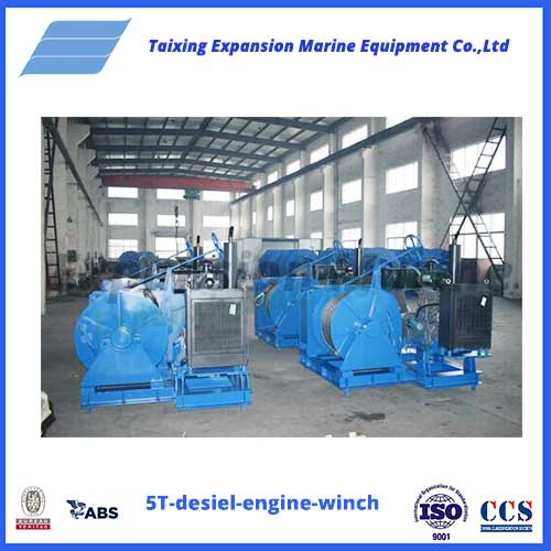 5T desiel engine winch from expansion marine
