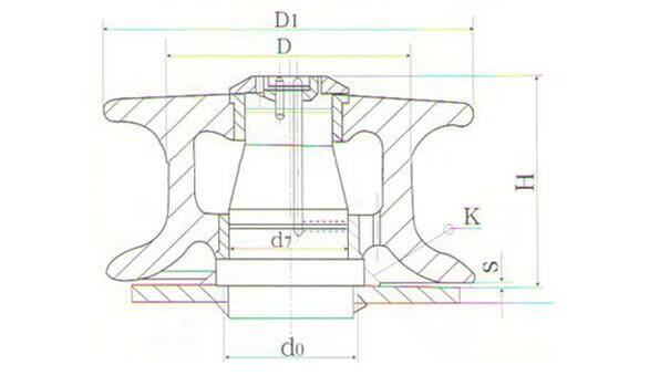 dimension drawing -roller-fairlead