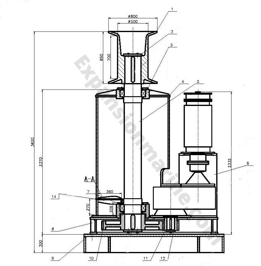 20T electric mooring capstan