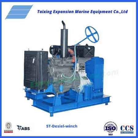 Diesel windlass winch