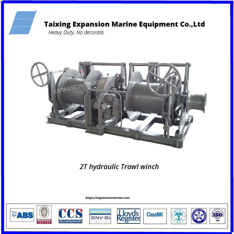 trawl winch for fishing vessel