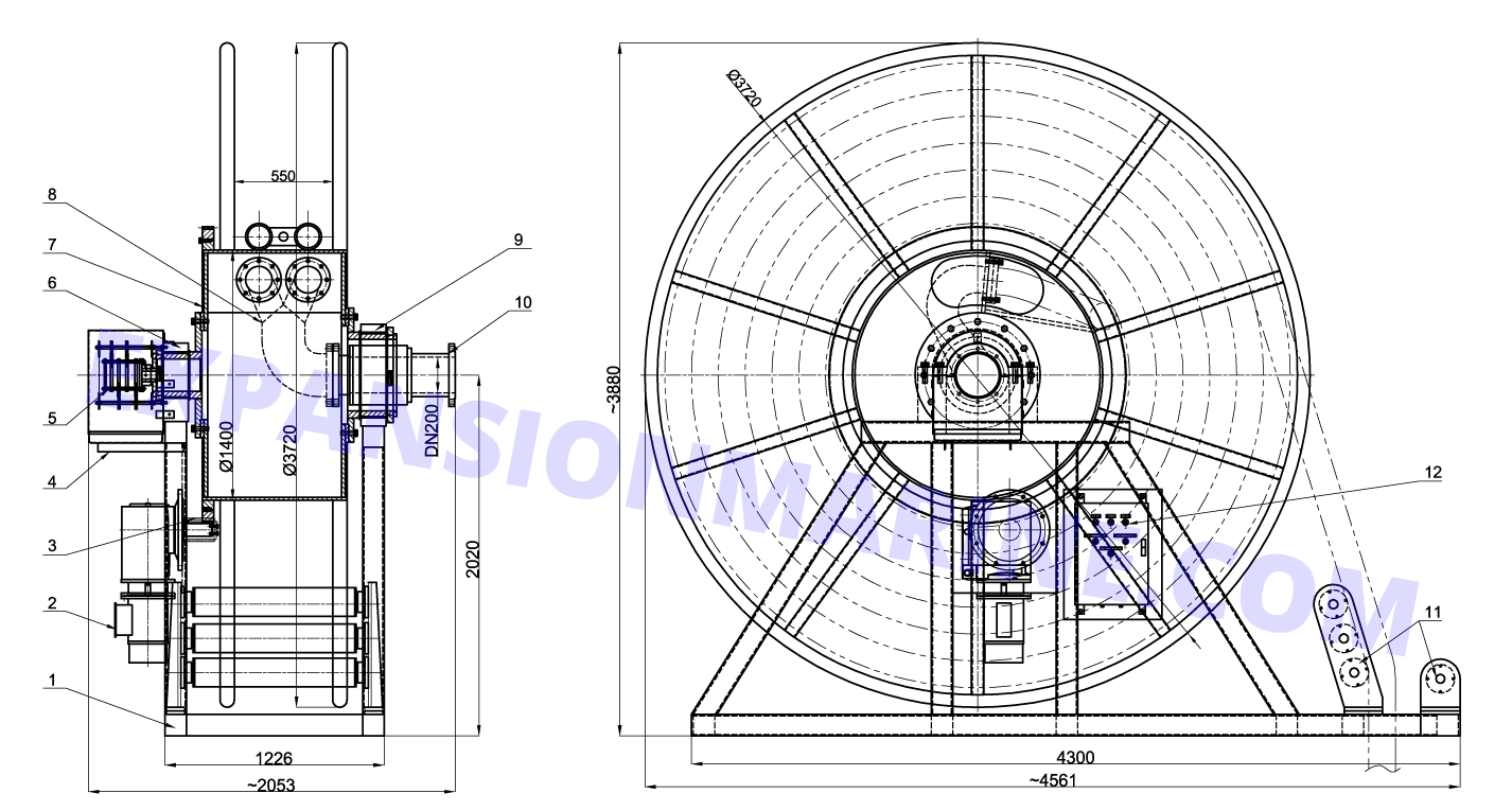 2.5T-hose-winch-drawing-detail-breakdown