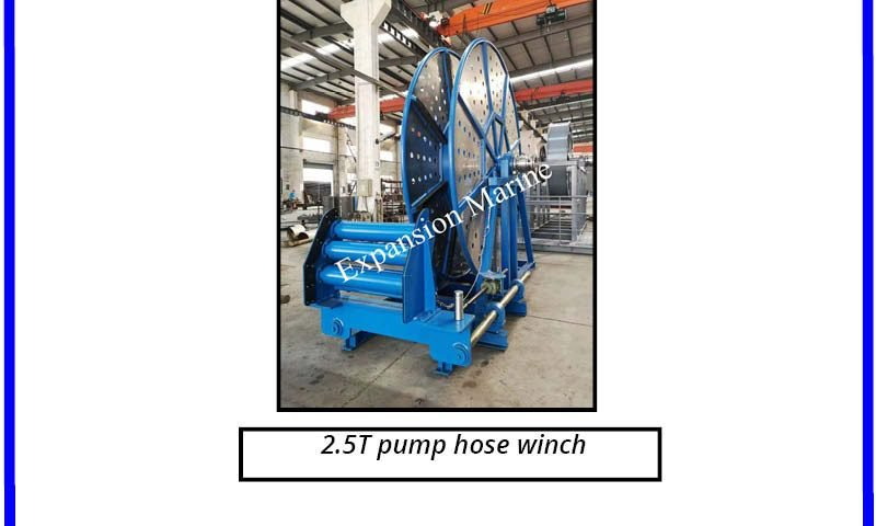 2.5T PUMP hose winch for offshore