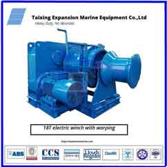 180kn warping head drum anchor winch
