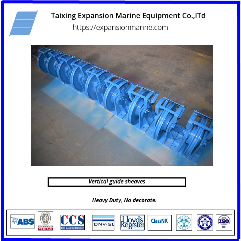 marine coating system vertical guide sheaves