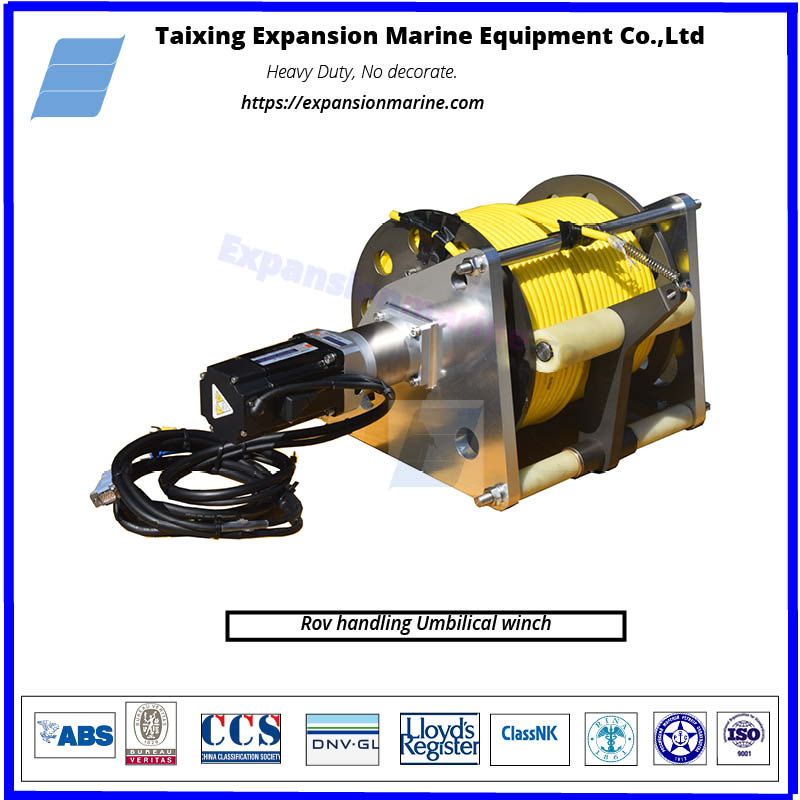 rov handling umbilical winches